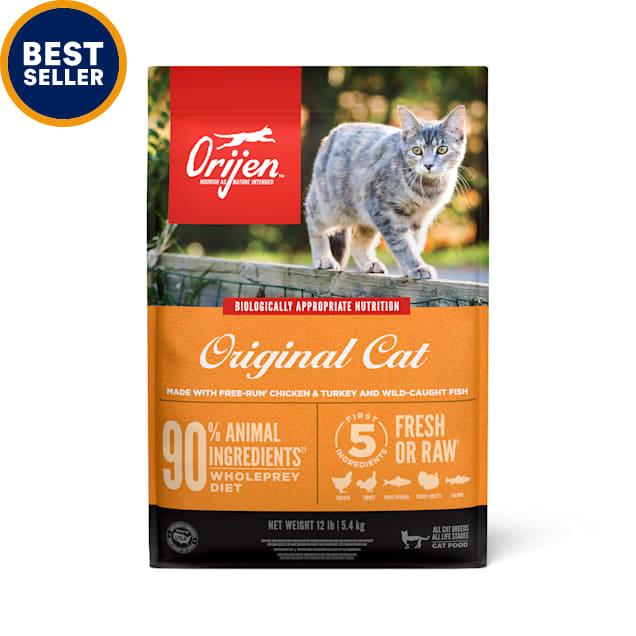 ORIJEN Cat & Kitten Premium High Protein Fresh & Raw Animal Ingredients Dry Food, 12 lbs. - Carousel image #1