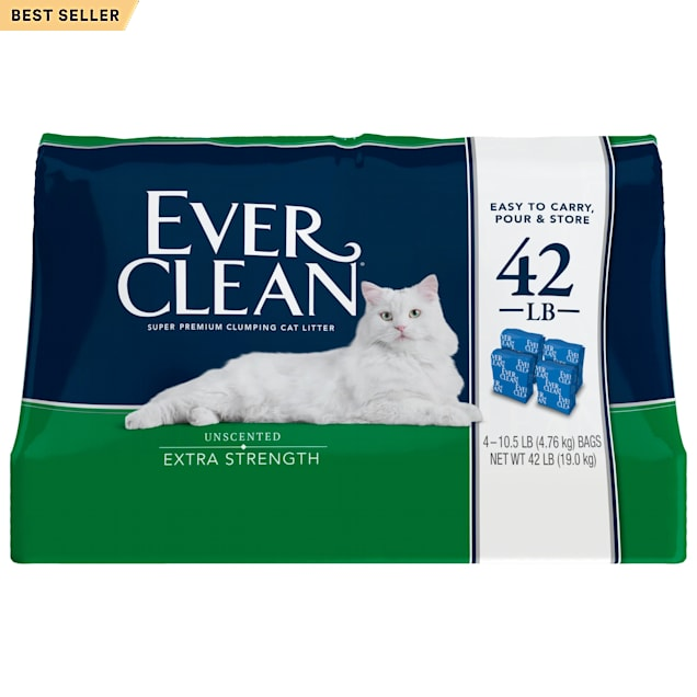Ever Clean Extra Strength Unscented Clumping Cat Litter, 42 lbs. - Carousel image #1