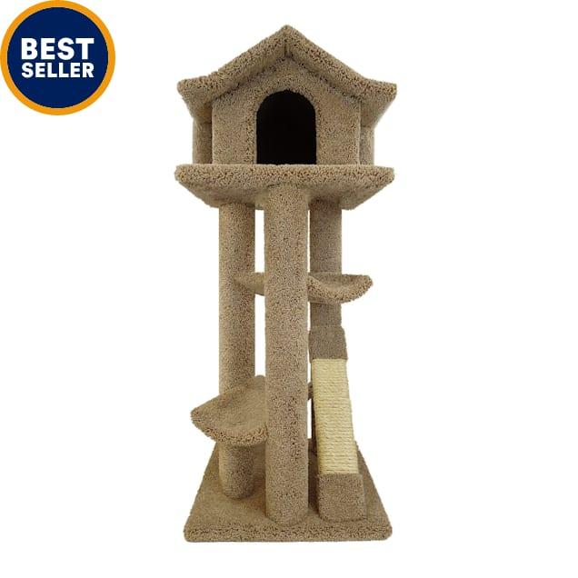 "New Cat Condos Premier Brown Cat Pagodas Tree, 46"" H - Carousel image #1"