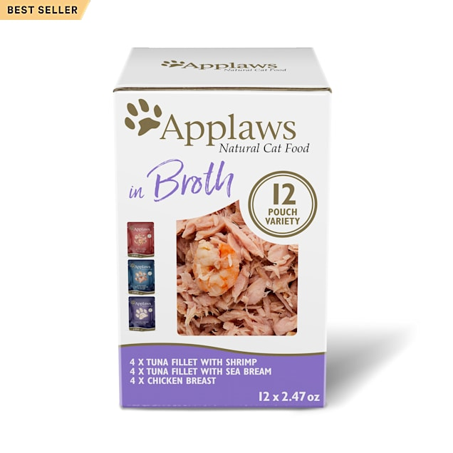 Applaws Natural Variety Pack in Broth Wet Cat Food, 2.47 oz., Count of 12 - Carousel image #1