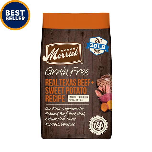 Merrick Grain Free Real Texas Beef & Sweet Potato Recipe Dry Dog Food, 30 lbs. - Carousel image #1
