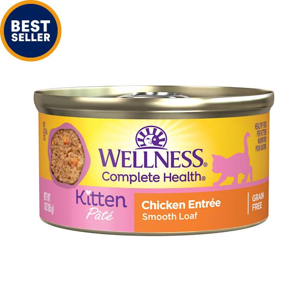 Wellness Complete Health Natural Grain Free Kitten Wet Cat Food, 3 oz., Case of 24 - Carousel image #1