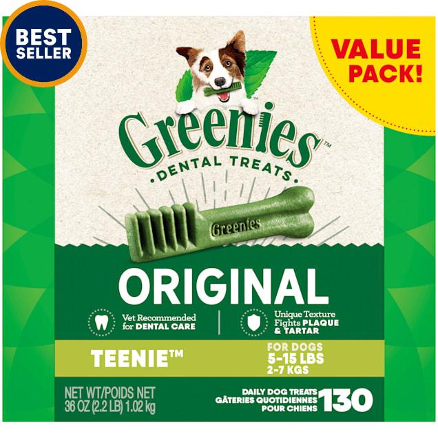 Greenies Original Teenie Dental Dog Treats, 36 oz., Count of 130 - Carousel image #1