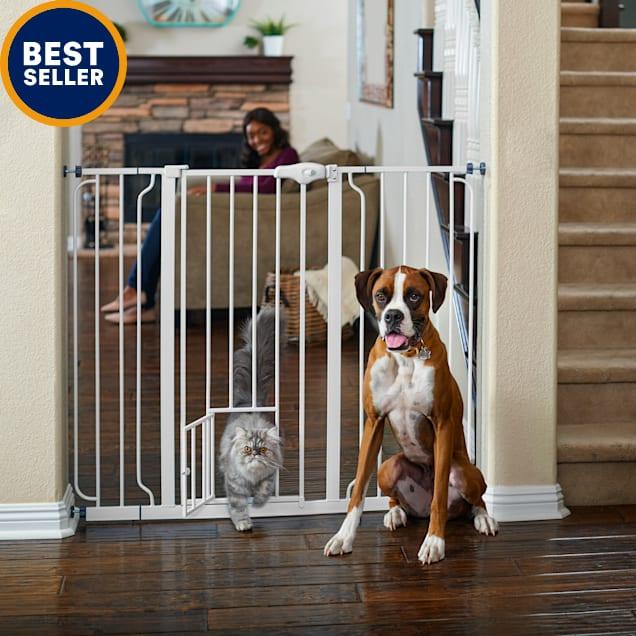 "You & Me Extra-Tall Walk-Thru Pet Gate, 29""-50"" W x 41"" H - Carousel image #1"