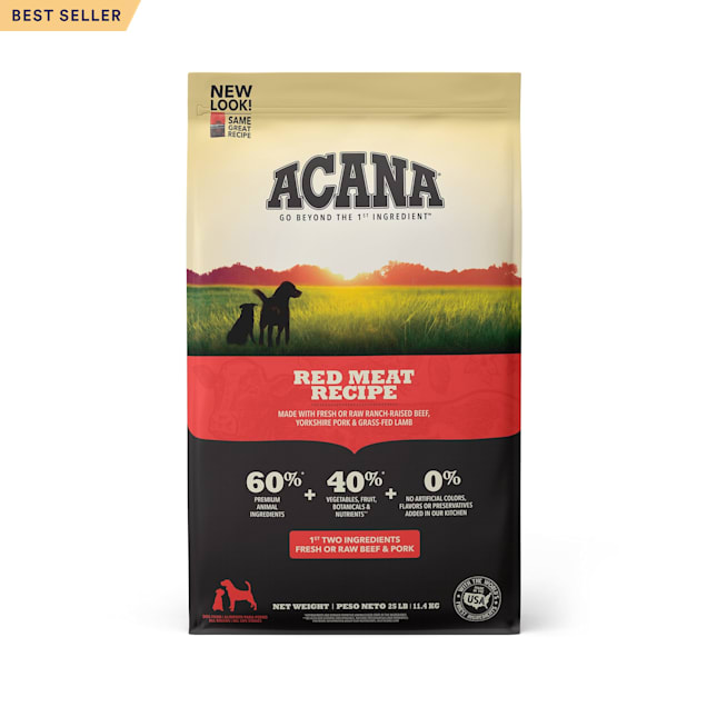 ACANA Grain-Free Red Meat Ranch-Raised Beef Yorkshire Pork Grass-Fed Lamb Dry Dog Food, 25 lbs. - Carousel image #1