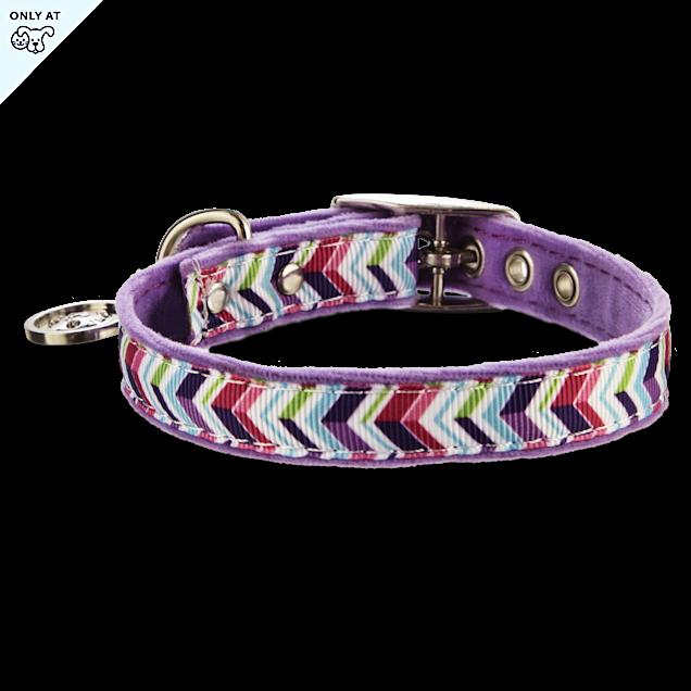 "Bond & Co. Purple Zigzag Collar, For Necks 10""-12"" - Carousel image #1"