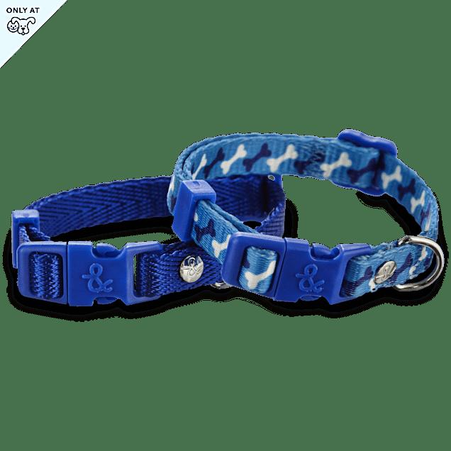 "Bond & Co. Blue Adjustable Collar 2 Pack, For Necks 8""-12"" - Carousel image #1"