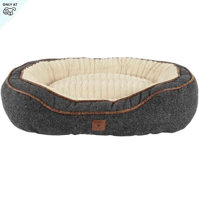 "Harmony Grey Cuddler Memory Foam Dog Bed, 24"" L x 18"" W - Carousel image #1"