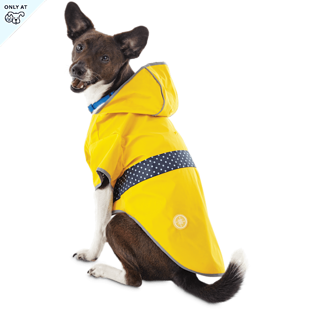 Good2Go Reversible Dog Raincoat in Yellow, Extra Small - Carousel image #1