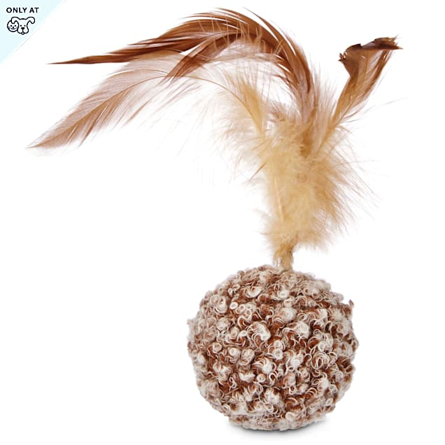 Leaps & Bounds Ball with Feather Cat Toy - Carousel image #1