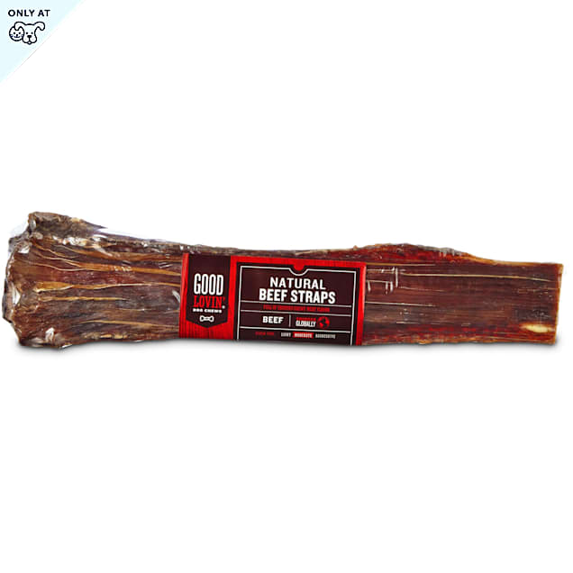 Good Lovin' Natural Beef Strap Dog Chews, Pack of 2 - Carousel image #1