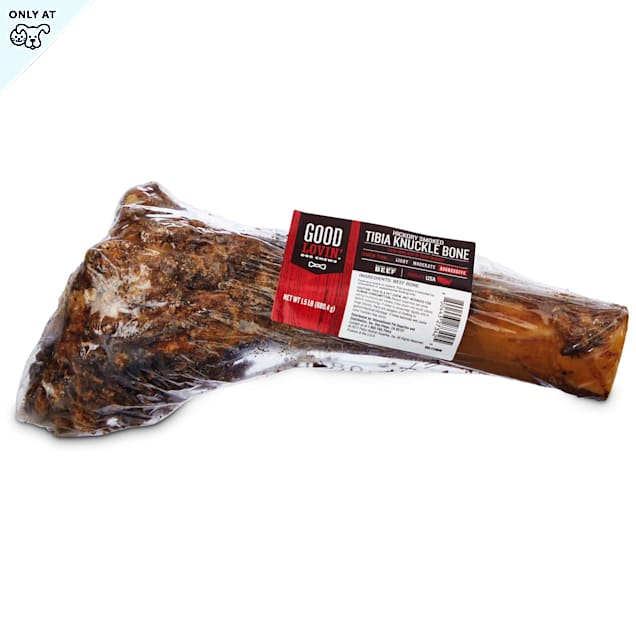 Good Lovin' Hickory Smoked Tibia Knuckle Bone Dog Chew, 1.5 lbs. - Carousel image #1