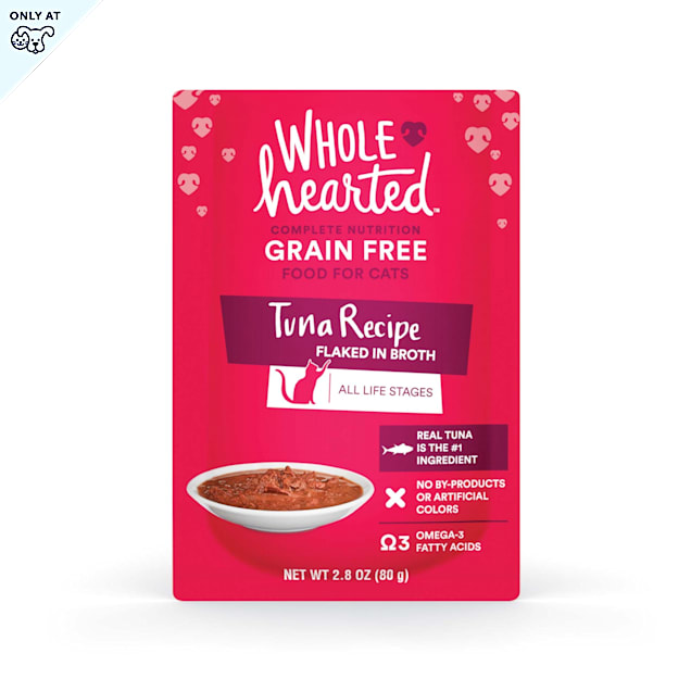 WholeHearted Grain Free Tuna Recipe Flaked in Broth Wet Cat Food, 2.8 oz., Case of 12 - Carousel image #1