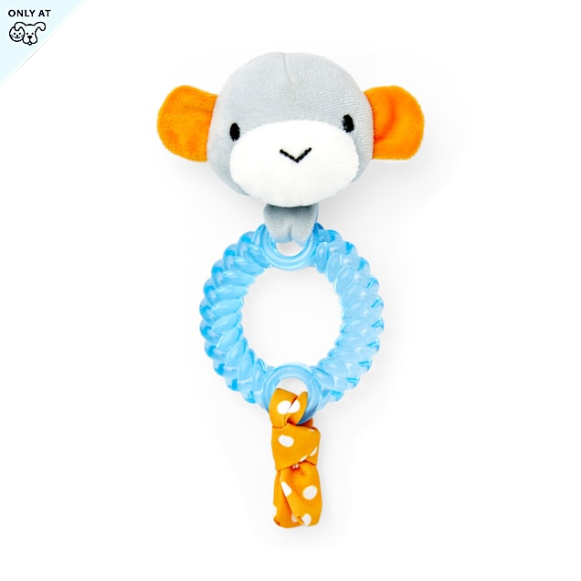 Leaps & Bounds Little Chews Teething Ring Puppy Toy in Assorted Colors, Small - Carousel image #1
