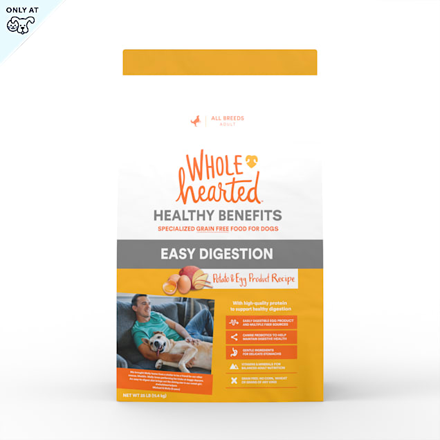 WholeHearted Grain Free Healthy Benefits Easy Digestion Potato and Egg Product Recipe Dry Dog Food, 25 lbs. - Carousel image #1