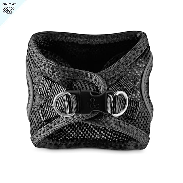Bond & Co. Reflective Black Mesh Dog Harness, XX-Small/X-Small - Carousel image #1