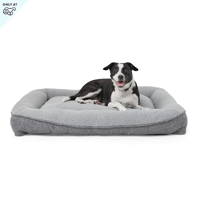 """Harmony Cozy Cottage Gray Lounger Dog Bed, 48"""" L X 36"""" W X 6"""" H - Carousel image #1"""