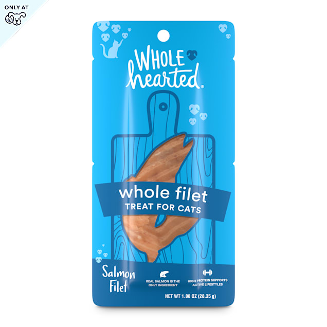 WholeHearted Protein-Rich Salmon Filet Cat Treat, 1 oz. - Carousel image #1