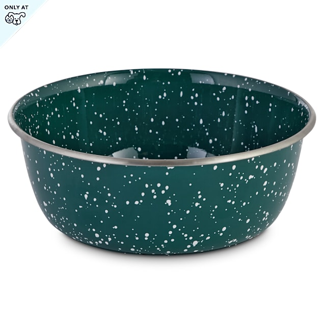 Harmony Speckled Enamel Coated Steel Dog Bowl, 8.2 Cups - Carousel image #1