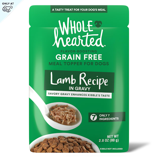 WholeHearted Lamb Recipe in Gravy Dog Meal Topper, 2.8 oz., Case of 6 - Carousel image #1