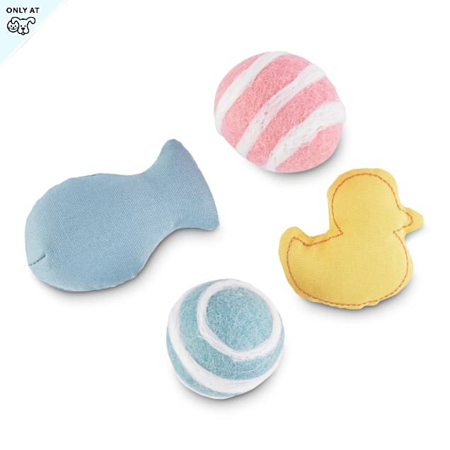 Leaps & Bounds Playful by Nature Pounce & Play Pond Variety Pack Cat Toys, Pack of 4 - Carousel image #1
