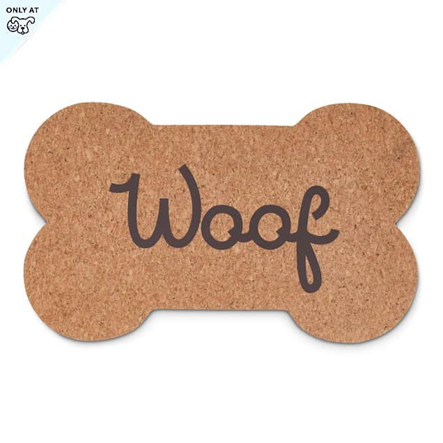"""Harmony Woof Bone Cork Placemat for Dogs, 23"""" L X 13.75"""" W - Carousel image #1"""