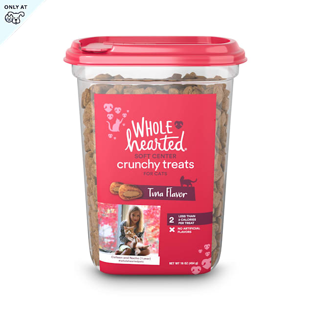 WholeHearted Soft Center Crunchy Tuna Flavor Treats for Cats, 16 oz. - Carousel image #1