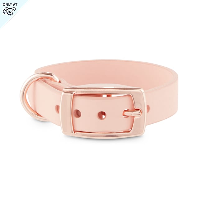 Bond & Co. Blush Pink Pleather Dog Collar, XX-Small - Carousel image #1