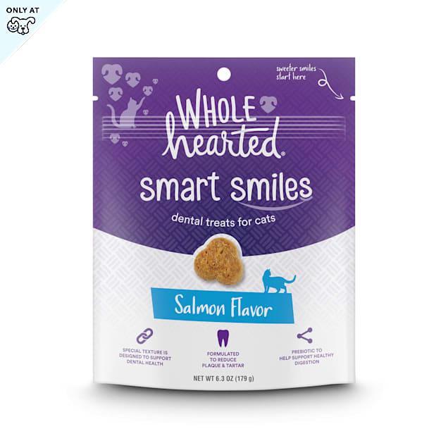 WholeHearted Smart Smiles Salmon Flavor Cat Dental Treats, 6.3 oz. - Carousel image #1
