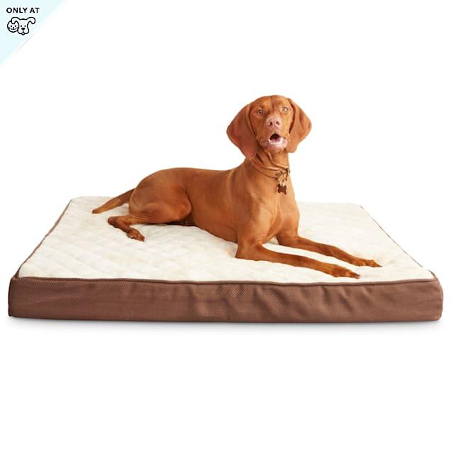 """Harmony Khaki Orthopedic Lounger Dog Bed, 40"""" L X 30"""" W - Carousel image #1"""