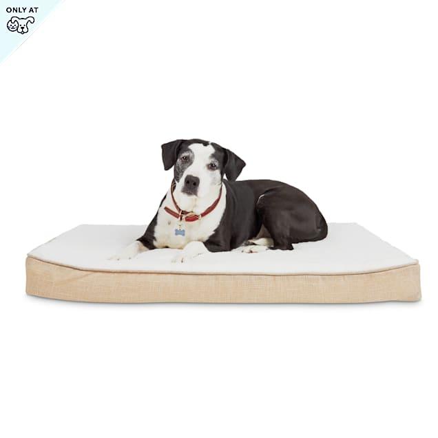 """Harmony Khaki Lounger Orthopedic Dog Bed, 40"""" L X 30"""" W - Carousel image #1"""