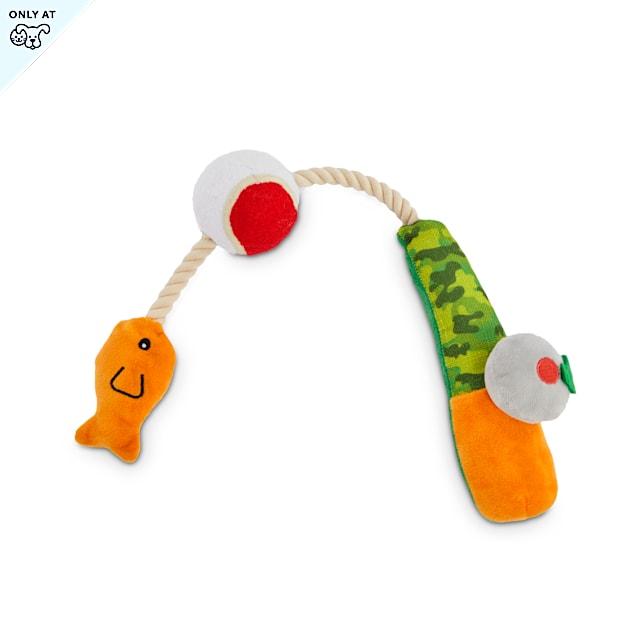 Leaps & Bounds Nice Catch Fishing Pole Plush Dog Toy, X-Large - Carousel image #1