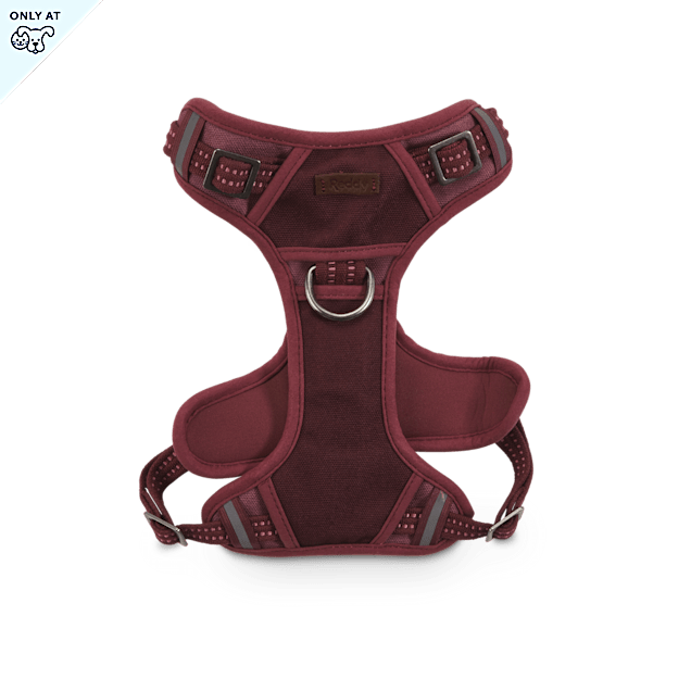 Reddy Burgundy Canvas Dog Harness, Medium - Carousel image #1