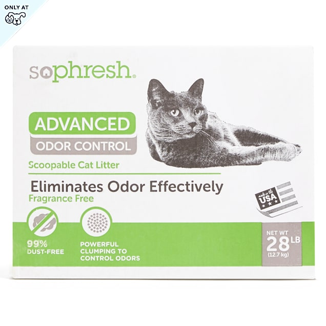 So Phresh Advanced Odor Control Scoopable Cat Litter, 28 lbs. - Carousel image #1