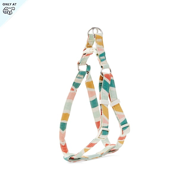 YOULY The Wanderer Rainbow Cotton Step-In Dog Harness, Small - Carousel image #1