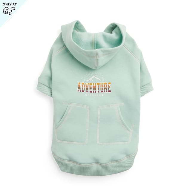YOULY The Adventurer Light Green Adventure-Seeker Dog Hoodie, X-Small - Carousel image #1