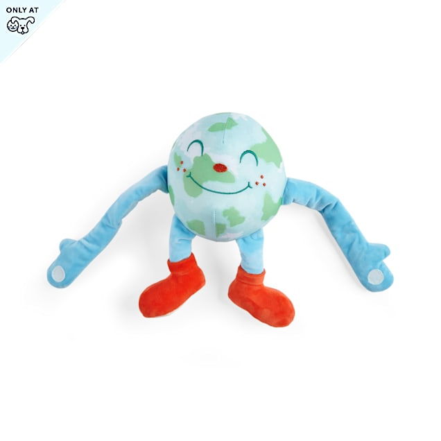 YOULY Started As A Bottle Recycled & Reinvented Earth Day Hug Plush Dog Toy, Medium - Carousel image #1