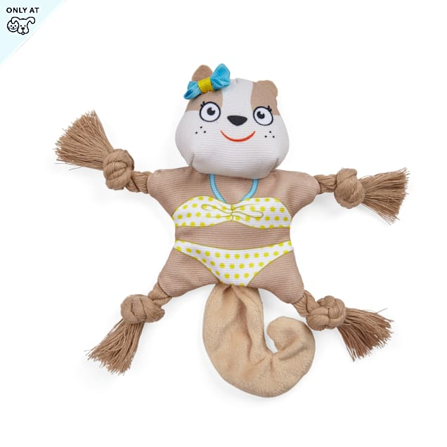 YOULY Started As A Bottle Recycled & Reinvented So Fly Squirrel Flattie Plush Dog Toy, Small - Carousel image #1