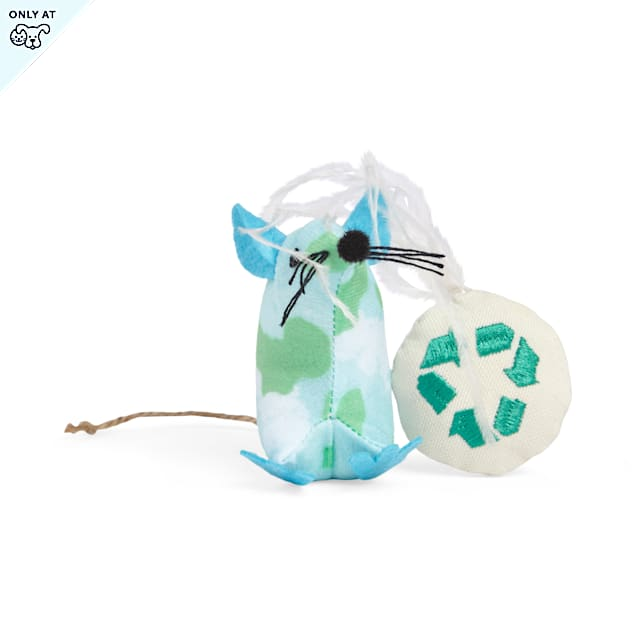YOULY Started As A Bottle Recycled & Reinvented Earth Day Cat Toy Set, Pack of 2 - Carousel image #1