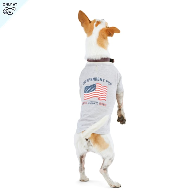 YOULY The Citizen Americana Collection Independent Pup USA Flag Dog T-Shirt, X-Small - Carousel image #1