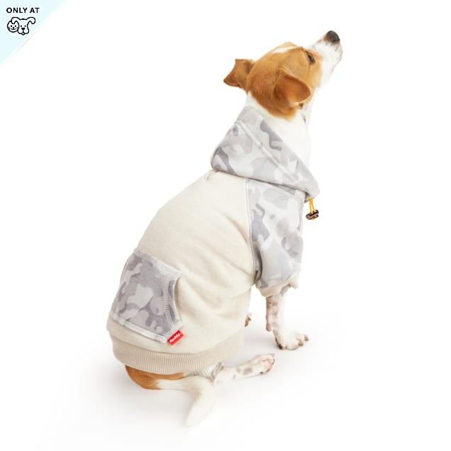 Reddy Grey Camo Colorblocked Dog Hoodie, X-Small - Carousel image #1