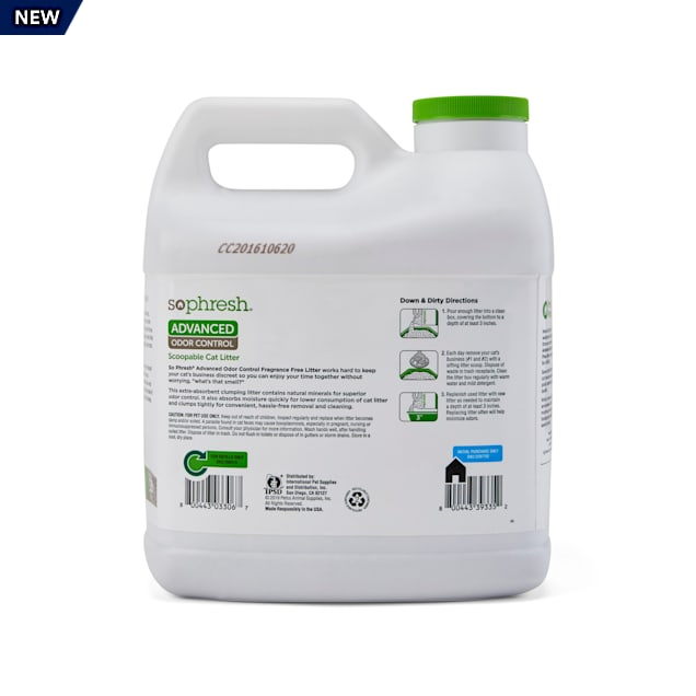 So Phresh In-Store Refill Advanced Odor Control Scoopable Cat Litter, 16 lbs. - Carousel image #1