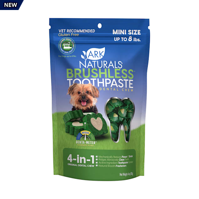 Ark Naturals Brushless Tooth Paste Chews for Mini Dogs, 4 oz. - Carousel image #1