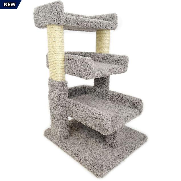 New Cat Condos 3 Level Premier Grey Triple Cat Perch, Medium - Carousel image #1