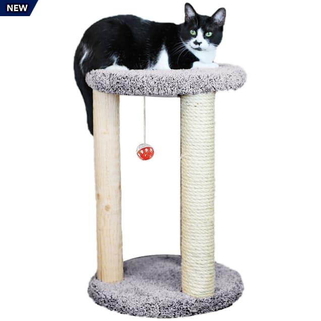 "New Cat Condos 1 Level Premier Grey Round Multi-scratcher, 24"" H - Carousel image #1"