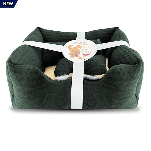 """Viv & Bubbie Green Gift Dog Bed Set, 3 Piece, 19"""" L X 16"""" W - Carousel image #1"""