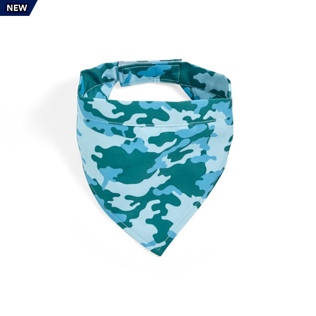 YOULY Started As A Bottle Recycled & Reinvented Camo Dog Bandana, Small/Medium - Carousel image #1