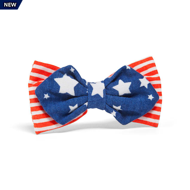 YOULY The Citizen Americana Collection USA Star & Striped Pet Bowtie - Carousel image #1
