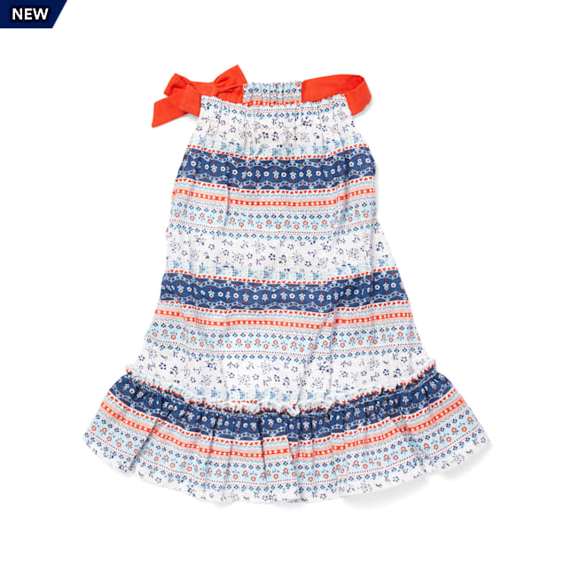 YOULY The Peacemaker Mixed Floral-Print Ruffle Dog Dress, XX-Small - Carousel image #1