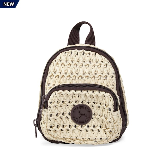 YOULY The Wanderer Straw Rattan Canvas Dog Backpack, X-Small/Small - Carousel image #1